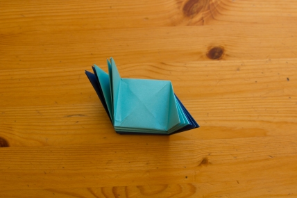 The Folded Paper Shapes Together Keep Flaps Of Adjoining Pieces Perpendicular To One Another All Must Be Slotted Into A Side Cube